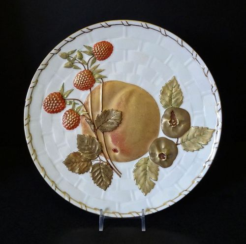 Antique Wedgwood Plate, Fruits