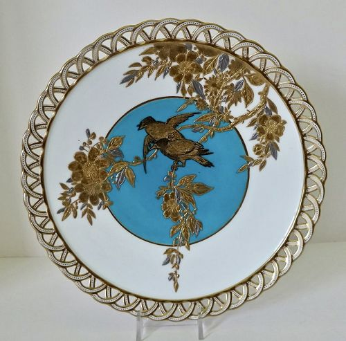 Mintons Aesthetic Reticulated Bird Plate