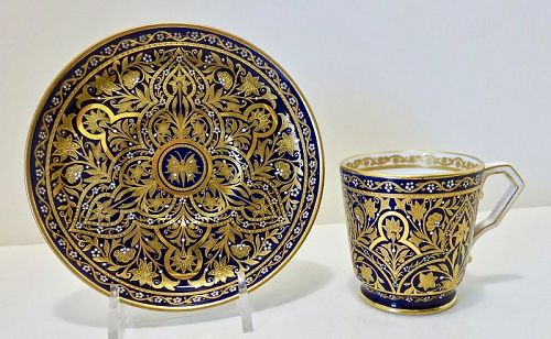 Crown Derby Demitasse Cup & Saucer, Persian Style