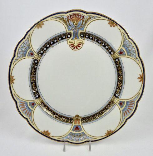 KPM Royal Berlin Jeweled Plate, Nouveau