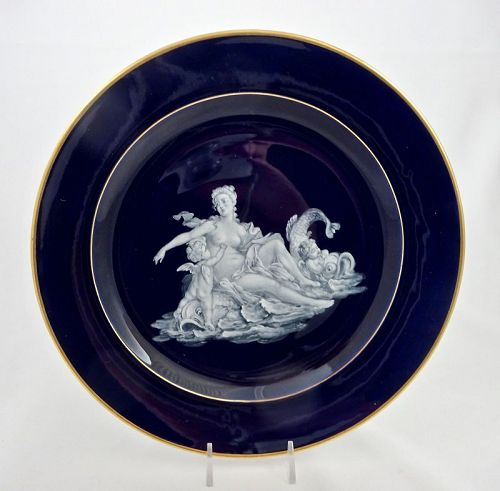 Meissen French Enamel Mythological Cabinet Plate
