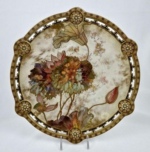 5 Doulton Burslem Cabinet Plates, Art Nouveau