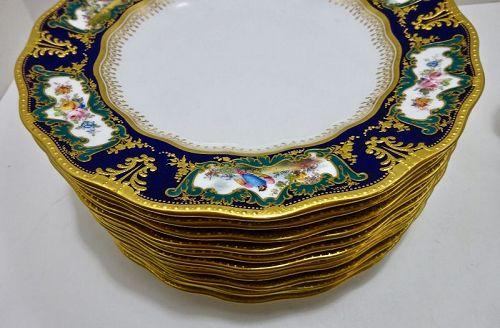 13 Crown Derby Luncheon Plates