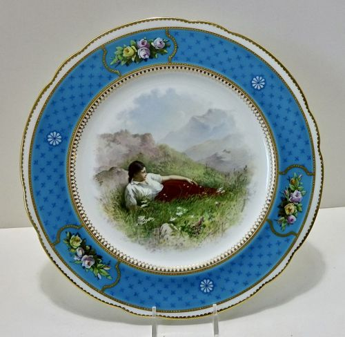 Brownfield�s Cabinet Plate for Tiffany, French Enamel  B