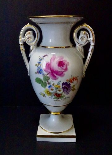Antique Meissen Vase, Floral