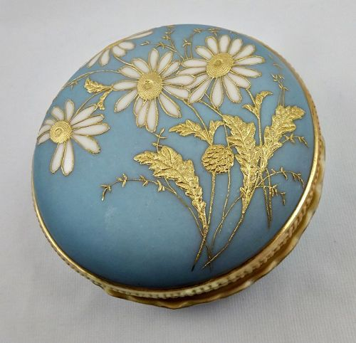 Antique Royal Worcester Dresser Jar, Colombian Exhibition