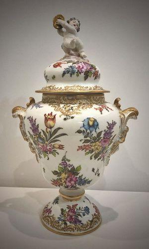 Antique Bourdois & Bloch Urn, Covered Vase