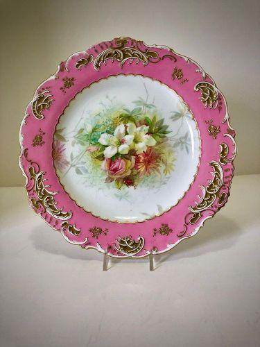 Antique Mintons Plate, Artist Signed