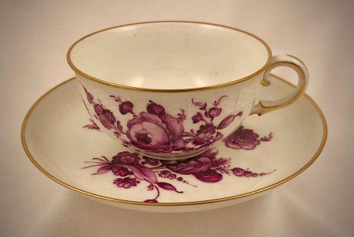 Antique Nymphenburg Tea Cup & Saucer