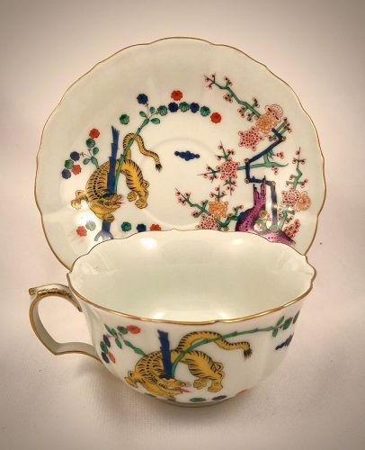 Vintage Meissen Tea Cup & Saucer, Kakiemon
