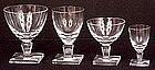 Fine Orrefors Crystal Stemware, 1950's Style, 48 pcs