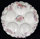 Lovely Haviland Limoges Oyster Plate, Pastel Colors