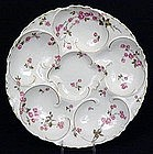 Beautiful Haviland Limoges Oyster Plate, Rosebuds