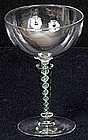 8 Wonderful Hand Blown Champagne Glasses / Stemware