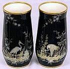 Excellent Pair Continental Pate-Sur-Pate Vases