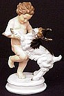 Delightful Rosenthal Dancing Child with Goat