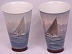 Pair of Remarkable Bing & Grondahl Nautical Vases