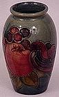 Moorcroft Vase, Birds and Fruit