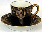 Jeweled Austrian Arts & Crafts Demitasse Cup & Saucer