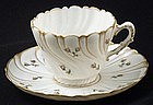Delicate Willets Belleek Tea Cup and Saucer