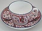 Rare English Purple Luster Tea Cup and Saucer