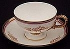 Handsome Brown Westhead & Moore Tea Cup and Saucer