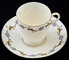 Rare Ott & Brewer Belleek Demitasse Cup and Saucer