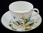 Handsome Early English Mustache Cup and Saucer