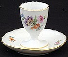 Beautiful Meissen Egg Cup with Underplate
