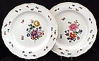Lovely Pair Antique Meissen Plates