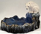 Terrific Doulton Lambeth Polar Bear Dish