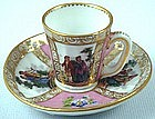 Charming Dresden Miniature Scenic Cup and Saucer