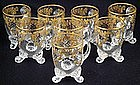 Gorgeous Set of 8 Bohemian Enameled Cups