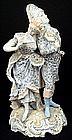 Fabulous Volkstedt Victorian Bisque Figurine