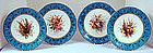 Fabulous Set of 8 Royal Worcester Enameled Plates