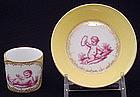 Charming Wolfsohn Dresden Miniature Cup and Saucer