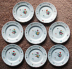 8 Charming Nymphenburg Bread and Butter Plates