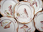 8 Marvelous Doulton Burslem Fish Plates
