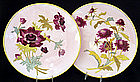 Beautiful Pair of Art Nouveau Minton Plates