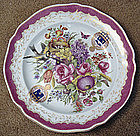 Antique Samson Armorial Faience Charger