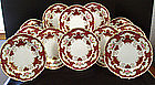 12 Elegant Royal Crown Derby Dinner Plates