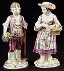Charming Meissen Girl & Boy