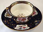 Antique Davenport Cobalt Tea Cup & Saucer