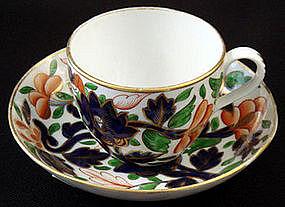 Antique English Imari Tea Cup & Saucer