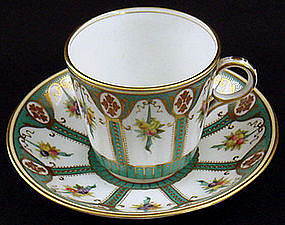 Antique English Tea Cup & Saucer