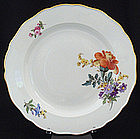 Lovely Meissen Floral Dinner Plate