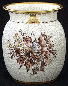 Unique Dahl Jensen Crackle Porcelain Vase