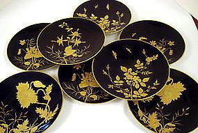 8 Pirkenhammer Art Nouveau Cabinet Plates