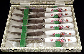 Royal Crown Derby Fruit Knives Set of 6