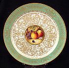 Royal Worcester Cabinet Plate with Fruit